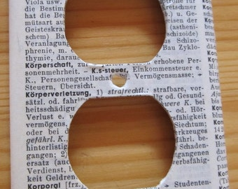 vintage GERMAN dictionary KÖRPER / BODY  electrical outlet cover
