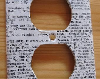 vintage GERMAN dictionary BRILLENSCHLANGE / Spectacled Cobra (Indian Cobra) electrical outlet cover
