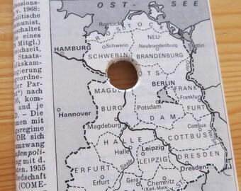 vintage GERMAN dictionary Deutsche Demokratische Republik / East Germany--  cable outlet cover