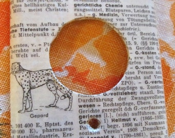 vintage GERMAN dictionary GEPARD /  CHEETAH dimmer switch cover