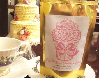 Personalized Coffee in a Stand-Up Pouch...Perfect for Wedding Favors, Parties and More
