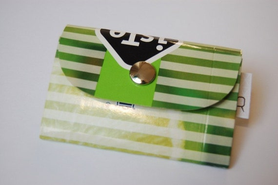 Wallet made from recycled ice-tea carton