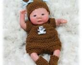 Crochet Pattern 8- ROMPER SET for 6 in. - 7 in. Baby Dolls