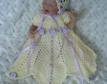 "Crochet Pattern 3 - DRESS Set to fit 10inch Marita Winters Doll, 10"""