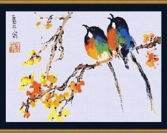 Colorful Birds Easy
