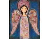 Angel en Rosa -  Print from Painting by FLOR LARIOS (6 x 8 inches)