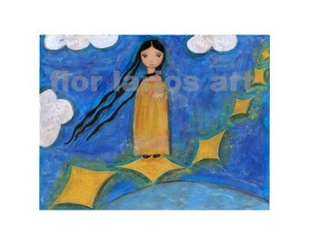 Walking on the Stars - Print from Original Painting by FLOR LARIOS (6 x 8 INCHES)