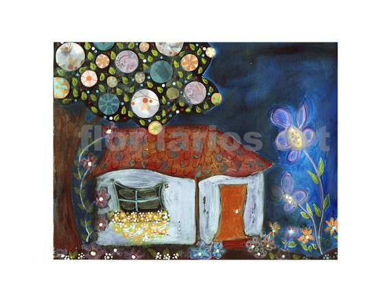 House of Dreams - Print from Original Painting by FLOR LARIOS (6 x 8 INCHES)