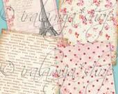 SWEET BACKGROUNDS Collage Digital Images -printable download file-