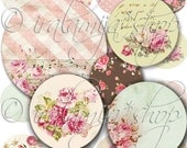 CIRCLES 2 x 2 Collage Digital Images -printable download file-