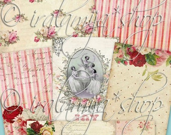 BEAUTIFUL PAPERS Collage Digital Images -printable download JPEG file-