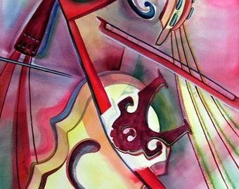 Good Vibrations - 32 x 44 inch Unframed original watercolor painting