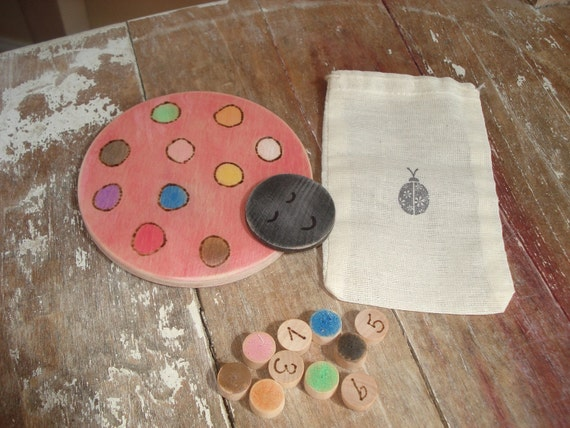 Lady bug color and number matching game