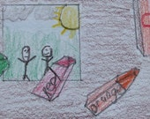 The Crayons And The Picture ACEO