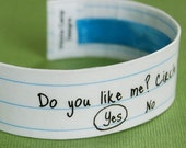 Do You Like Me Circle Yes or No - Sweetheart Cuff Bracelet - Style 3 - Valentine's Day - Gifts under 30