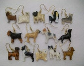Dog Earrings, Lots of Different Breeds, Fishhook Ear Wires