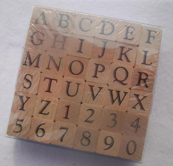 large casual alphabet stamp set rubber stamps on wooden With large letter stamps for wood