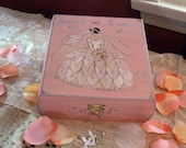 CUSTOM order - For Becky only - Vintage Inspired Wedding Keepsake box