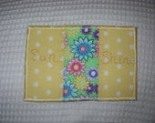 Sunshine and Flowers 1  - Fabric Postcard