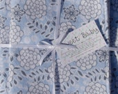 Extra Large Spa Floral Baby Blanket and 2 Burp Cloth Set - 38 X 38
