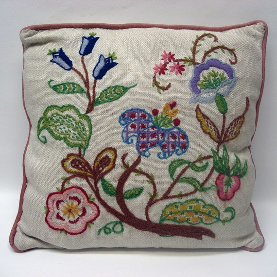 Charming floral throw pillow