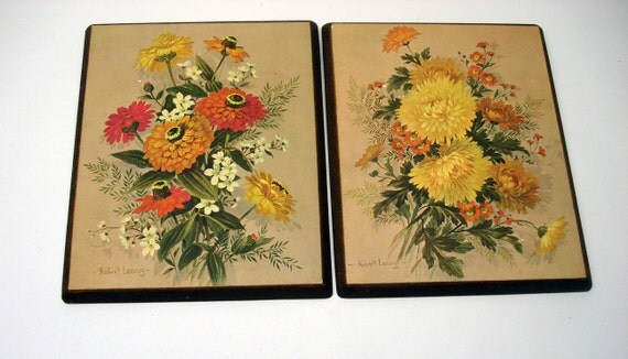 Two bright flower pictures