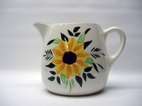 Sunflower pitcher by Stangl