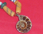 Ammonite African Trade Beads Necklace