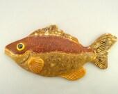 Ceramic wall decoration brown fish