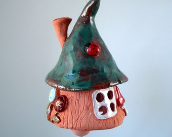 Forest Gnome  little Cottage  Made to order