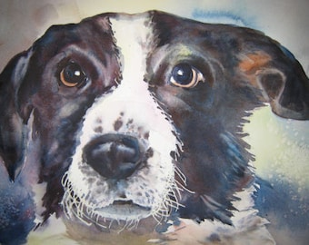 Custom Watercolor Pet Portrait from Your Photo