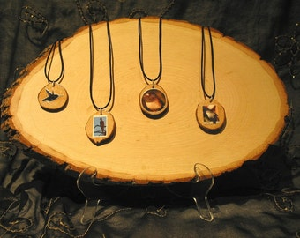 Recycled Wooden Wildlife Necklaces