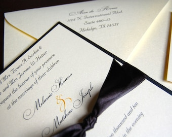 Deposit for Black Tie Wedding Invitations