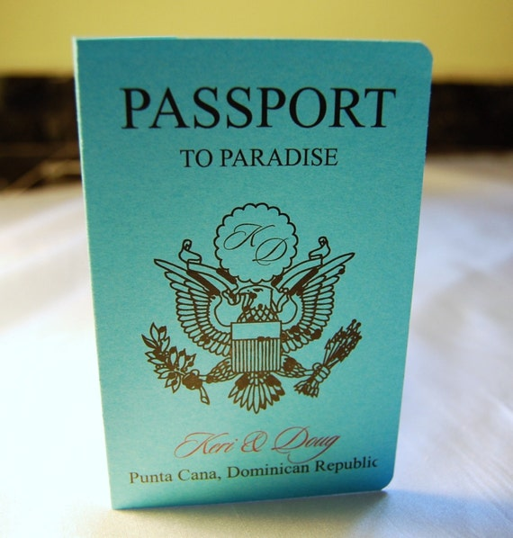 Deposit MINI Passport Invitations By Anaderoux On Etsy