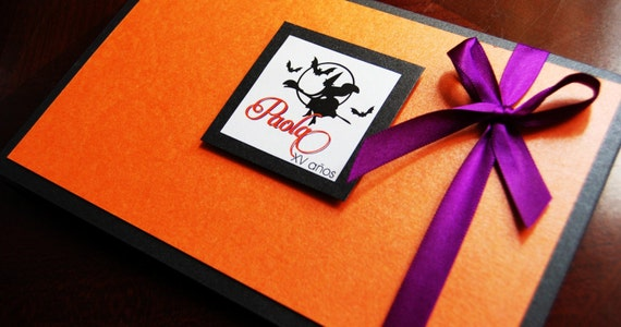 Halloween Invitations - Halloween quinceanera invitation