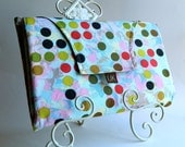 All-In-One Diaper Clutch - Clean Cheeks (TM) All-in-One Diaper Changing Kit in Cool Dots