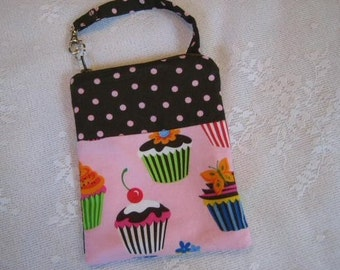 Gadget Case Pouch Ipod Cell Phone Camera Cupcake Fabric