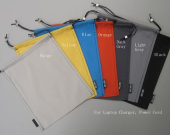 Power Cord Sleeve, laptop charger bag, Accessory bag.