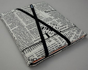 iPad mini case / Kindle Case / eReader Cover. Linen/Padded/Newsprint