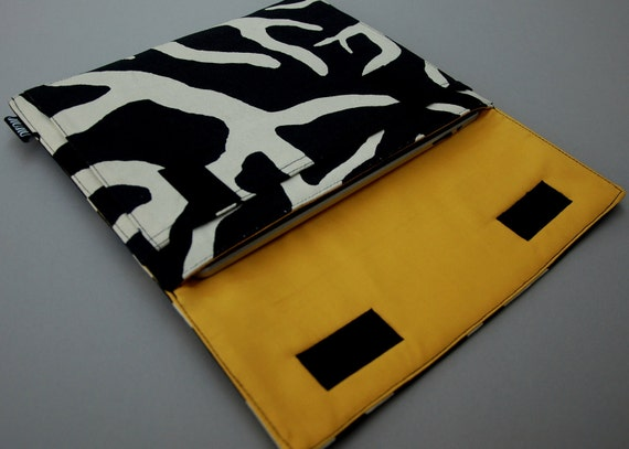 Laptop Case, Laptop Sleeve, for 11inch Macbook Air - Zebra, Padded Canvas Case. Made to Order