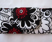 Women Wallet, Billfold Wallet, Clutch, Handmade From Zesty Zinnia Red