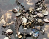 Mona Lisa Men Have Named You Vintage Rosary/French Charm Necklace