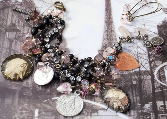 Custom Listing for Jessica...RESERVED....Gotta Have Faith Vintage Rosary Bracelet