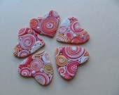 Polymer Clay Hearts- Reserved for ArtCloud