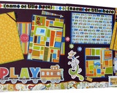 Scrapbook Pages Premade 12x12 custom layout - two pages -  Boys & Toys