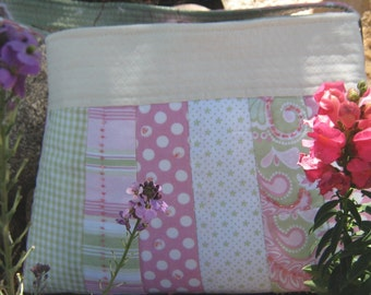 Bag/Purse--the GIRLY GIRL Beaded Purse in Pinks and Greens
