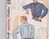 Vintage 1940s Mens Shirts  - SIMPLICITY Pattern No. 1952 Neck 15.5