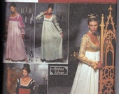 ADULT Renaissance Costume Collection  Halloween Costume Sewing Pattern Simplicity No. 9531 Size HH 6, 8, 10, 12