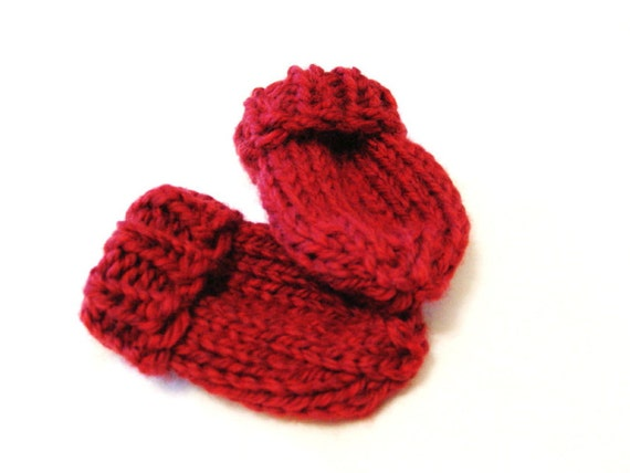 Knitting Patterns For Scratch Mittens : newborn baby mittens no scratch thumbless knit mitts