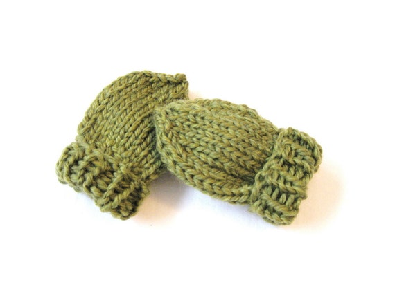 Knitting Patterns For Scratch Mittens : Items similar to knit baby mittens, no scratch seamless thumbless mitts, fern...